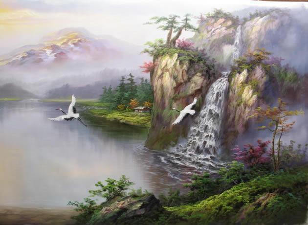 地理风水油画